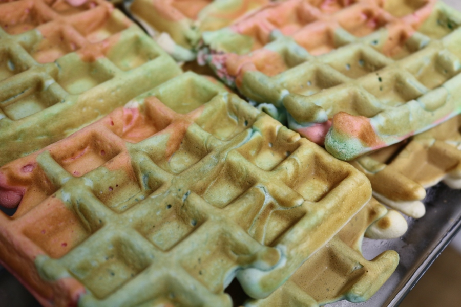 Colorful Waffles!